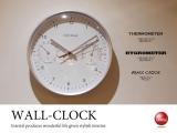 湿度計&温度計付き壁掛け時計
