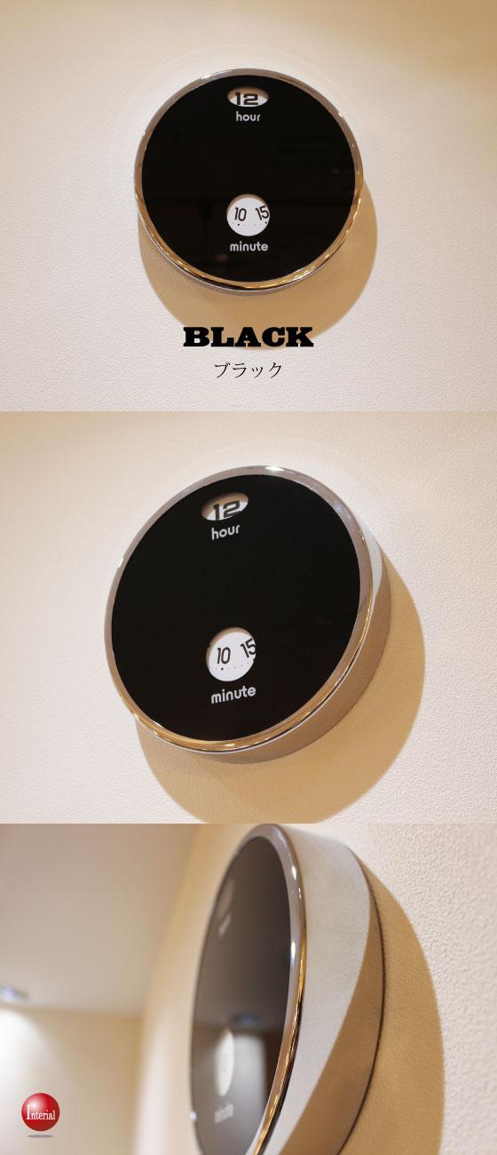 ハイセンスデザイン壁掛け時計(ホワイト/ブラック)