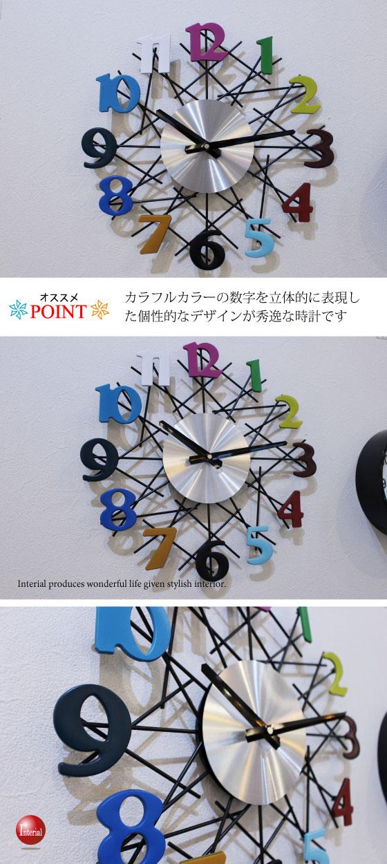 ナンバーデザイン壁掛け時計