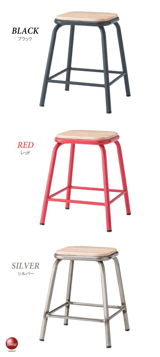 ウッド&スチール製・ミニテーブル(完成品)