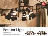 4灯スポット型ペンダントランプ(LED対応)
