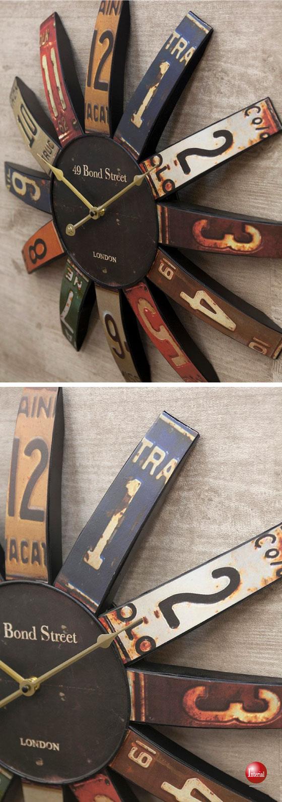 ラージサイズ!ナンバーデザイン・アンティーク壁掛け時計