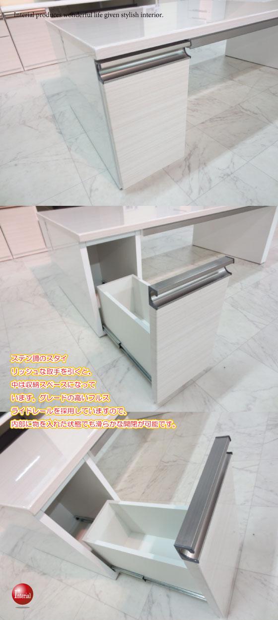 光沢木目ホワイト(UV塗装)幅120cmリビングテーブル