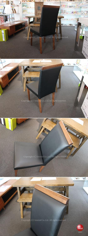 天然木&PVCレザー製・ダイニングチェア(2脚セット)