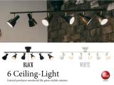 幅110cm・6灯スポットシーリングランプ(LED対応)