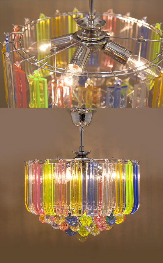 シーリングタイプ・ゴージャス4灯シャンデリア(マルチ)LED対応