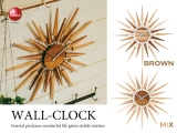 ハイデザイン・木製ウォールクロック(音なしスイープ針)