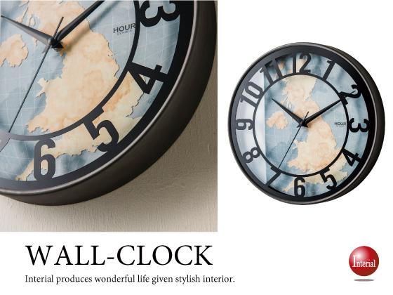 アンティーク壁掛け時計(音なしスイープ針)