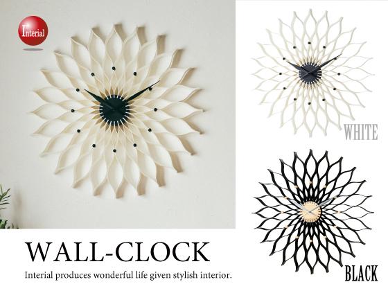 ラージサイズ!フラワーデザイン・インテリア壁掛け時計