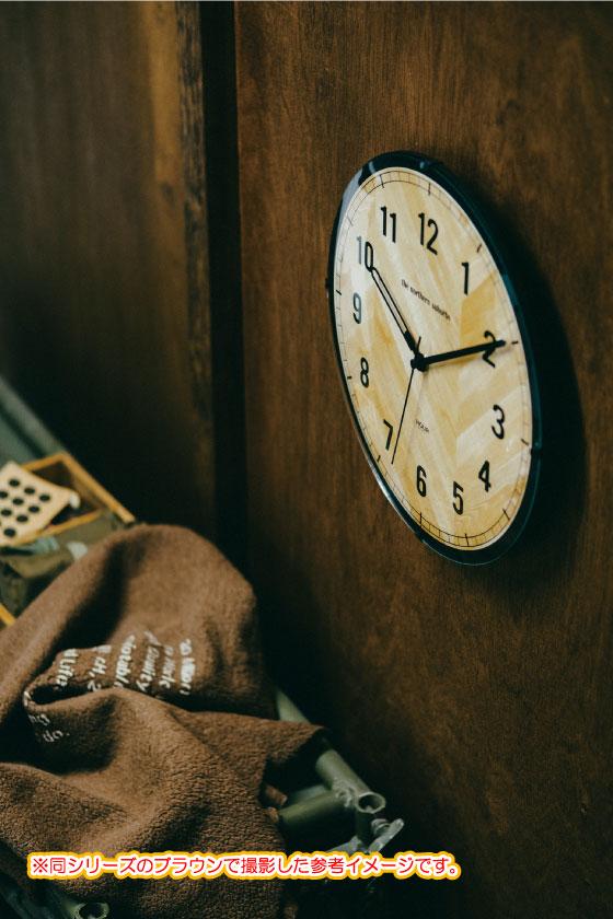 シンプルモダン・壁掛け電波時計(ホワイト)