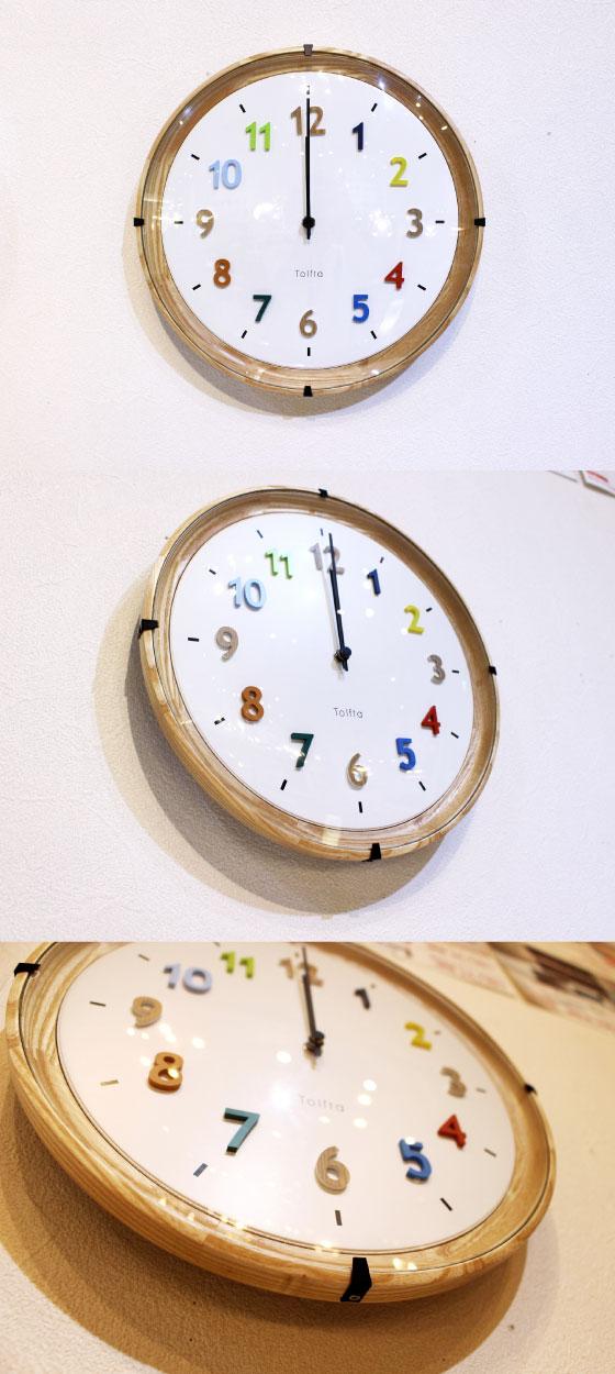 カラフル・インテリア壁掛け電波時計