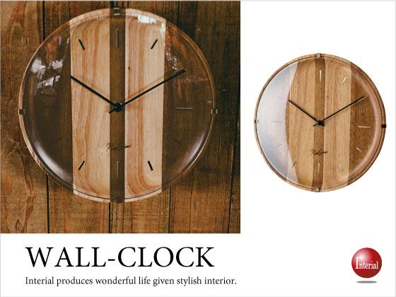 ウッドデザイン壁掛け時計(音なしスイープ針)