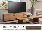 天然木オーク製・幅180cmテレビボード(完成品)※開梱設置サービス対応