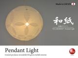 透かし和紙・日本製和風ペンダントライト(2灯/ホワイト)LED対応