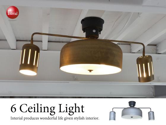 リモコン付き・4灯+2灯シーリングライト(LED&ECO球対応)