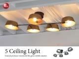 スタイリッシュデザイン・5灯シーリングライト(LED&ECO球対応)