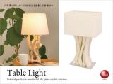 ウッドデザイン・1灯テーブルライト(LED球&ECO球対応)