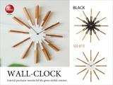 シンプルモダン・壁掛け時計(音なしスイープ針)