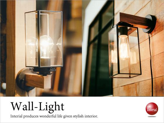 壁掛け仕様・アンティーク調1灯ブラケットライト(LED電球対応)