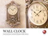 ビクトリアン調・壁掛け振り子時計(音なしスイープ針)