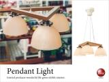 乳白色ガラス製・3灯ペンダントライト(LED電球対応)