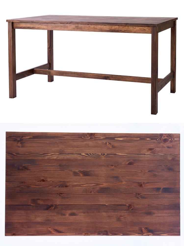 幅135cm・天然木パイン無垢製ダイニングテーブル