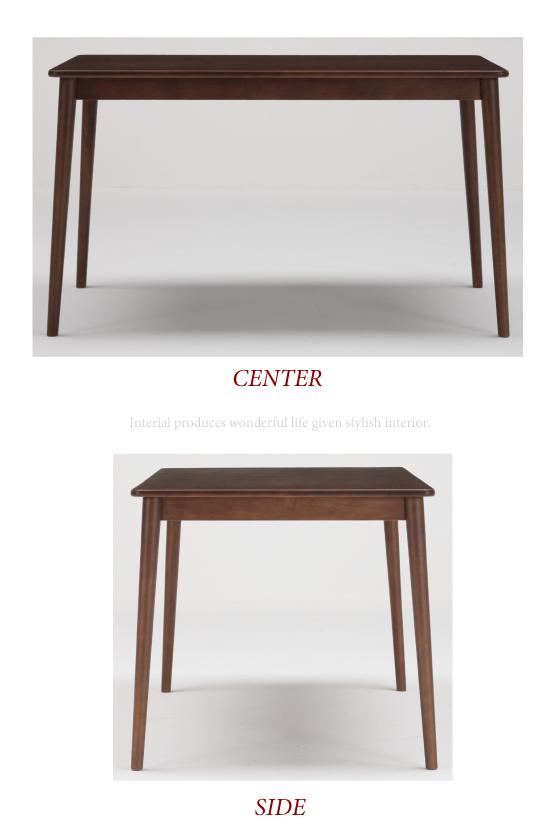 天然木ラバーウッド・幅120cmダイニングテーブル【完売しました】