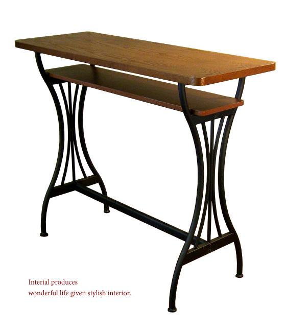 天然木オーク・幅110cmカウンターテーブル