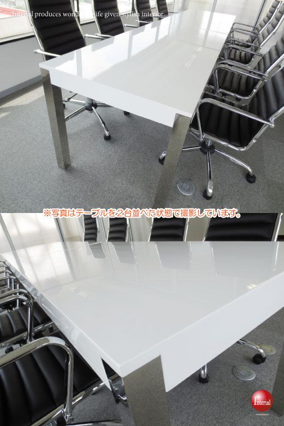 幅160cm・光沢ホワイト天板ダイニングテーブル【予算に応じて選べる配送プラン!開梱組立設置サービス対応】