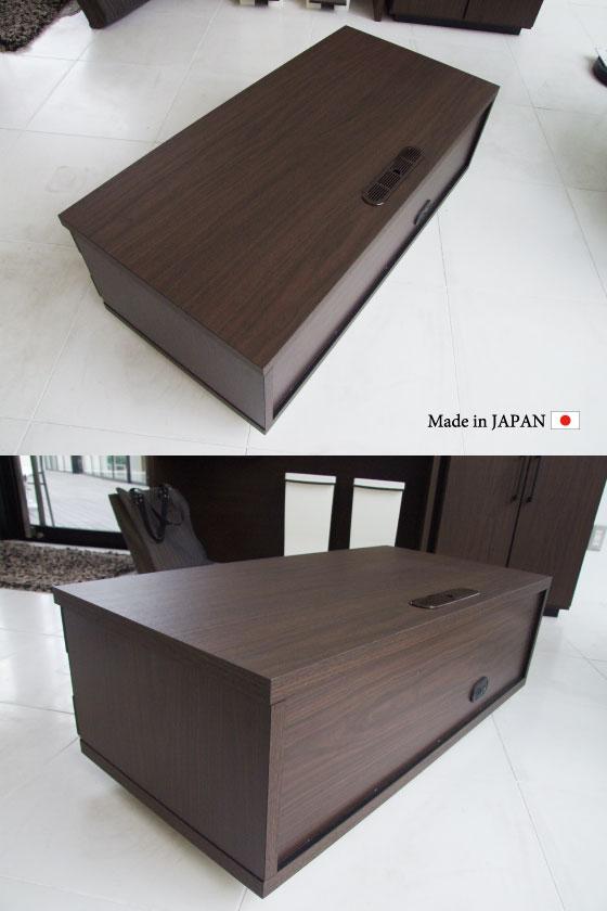 天然木アルダー・幅90cm和風モダンTVボード(日本製・完成品)