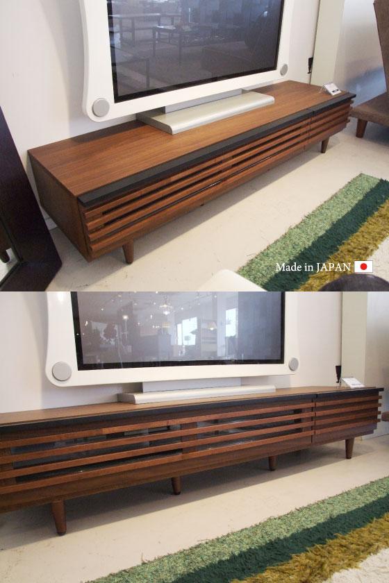 天然木アルダー無垢材・幅150cmテレビボード(日本製・完成品)