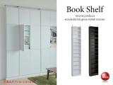 1cm間隔で棚板が調節できる壁面収納庫(幅44cm・薄型)