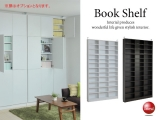 1cm間隔で棚板が調節できる壁面収納庫(幅128cm・薄型)