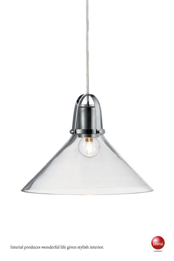 傘型ガラスシェード・ペンダントランプ(1灯)LED電球対応