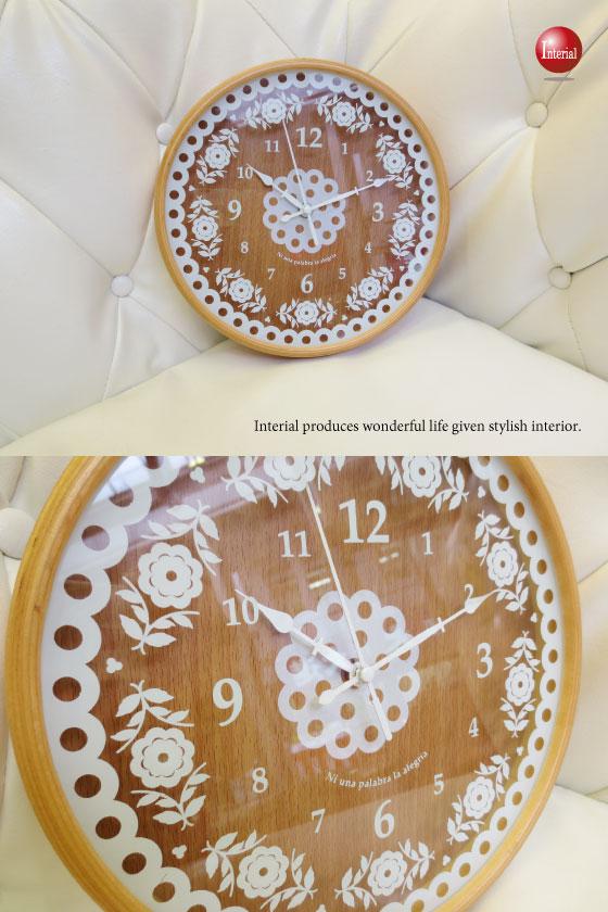 レースフラワーデザイン・インテリア壁掛け時計