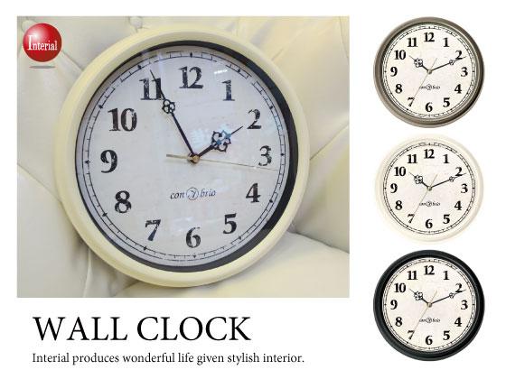 レトロデザイン・インテリア壁掛け時計(スイープムーブメント)