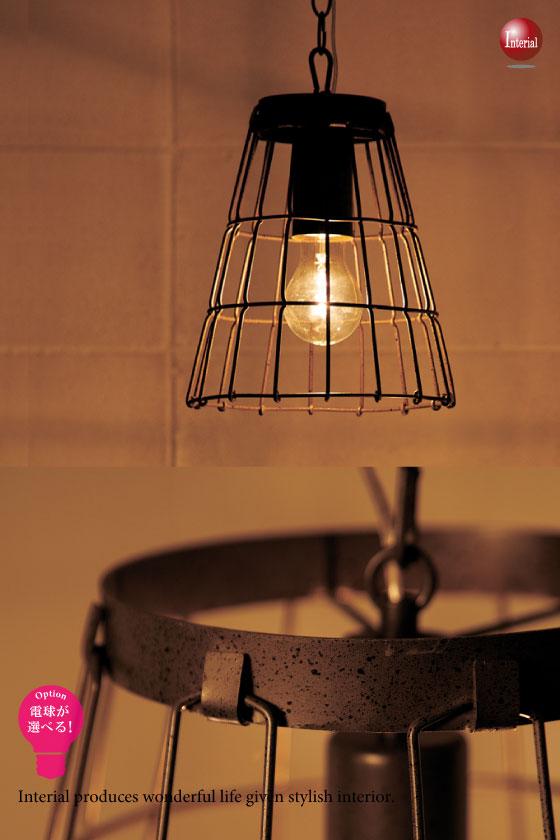 アイアンデザイン・ペンダントライト(Sサイズ)LED電球&ECO球対応