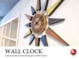 ウッドデザイン・インテリア壁掛け時計(ミックス)