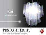ペンダントランプ「アウロ」Lサイズ(1灯)LED電球使用可能