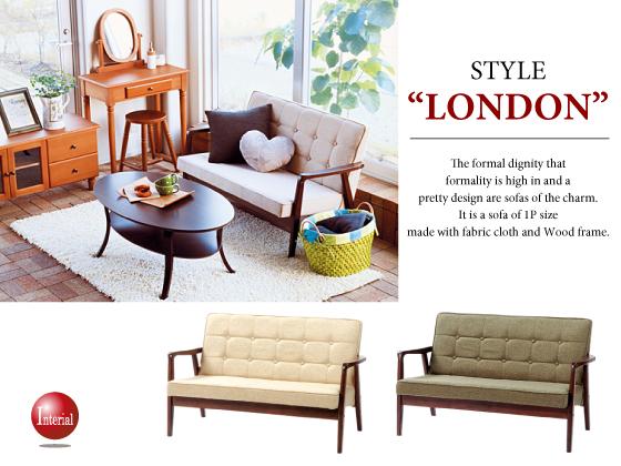 """ファブリックソファー """"Style-London""""(2Pソファー)"""