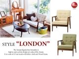 """ファブリックソファー """"Style-London""""(1Pソファー)"""