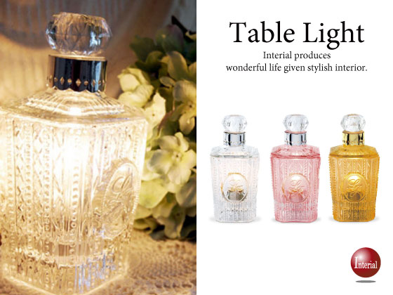 香水ボトルデザイン・ガラス製アロマテーブルランプ