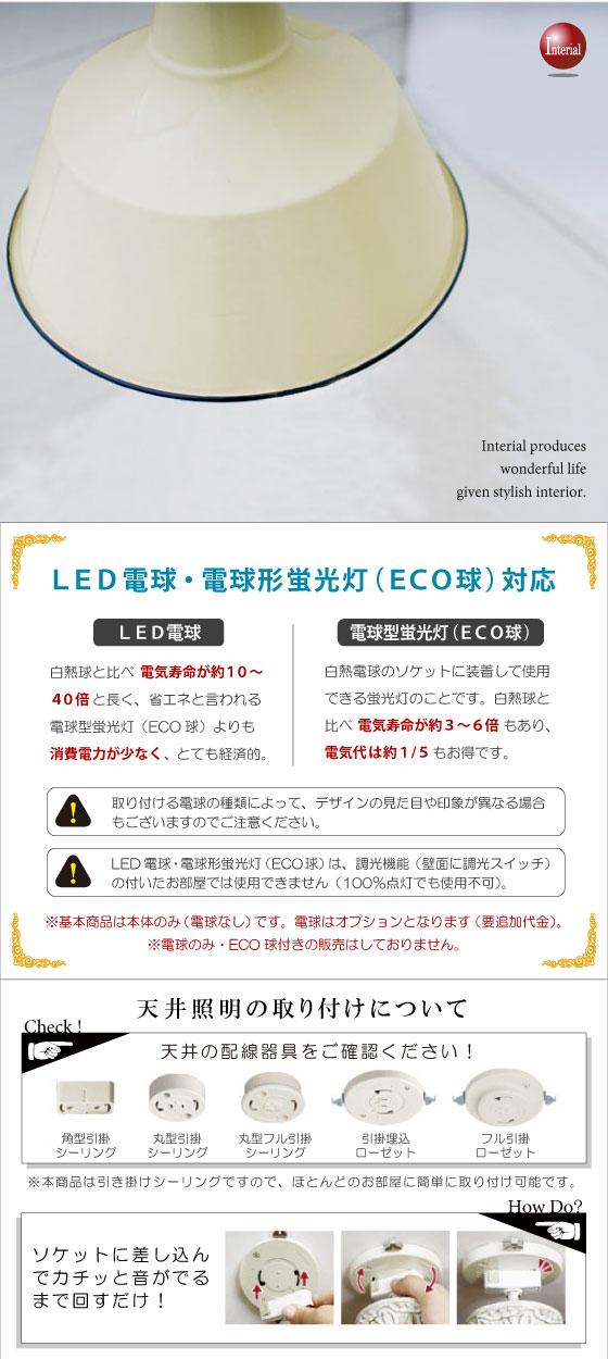 スチール製・ペンダントライト (2灯)LED電球&ECO球使用可能