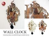 動物デザイン・壁掛け振り子時計(木目タイプ)