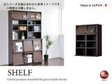 シリーズ組み合わせ専用・幅77.2cm上置きシェルフ(木目ブラウン)日本製