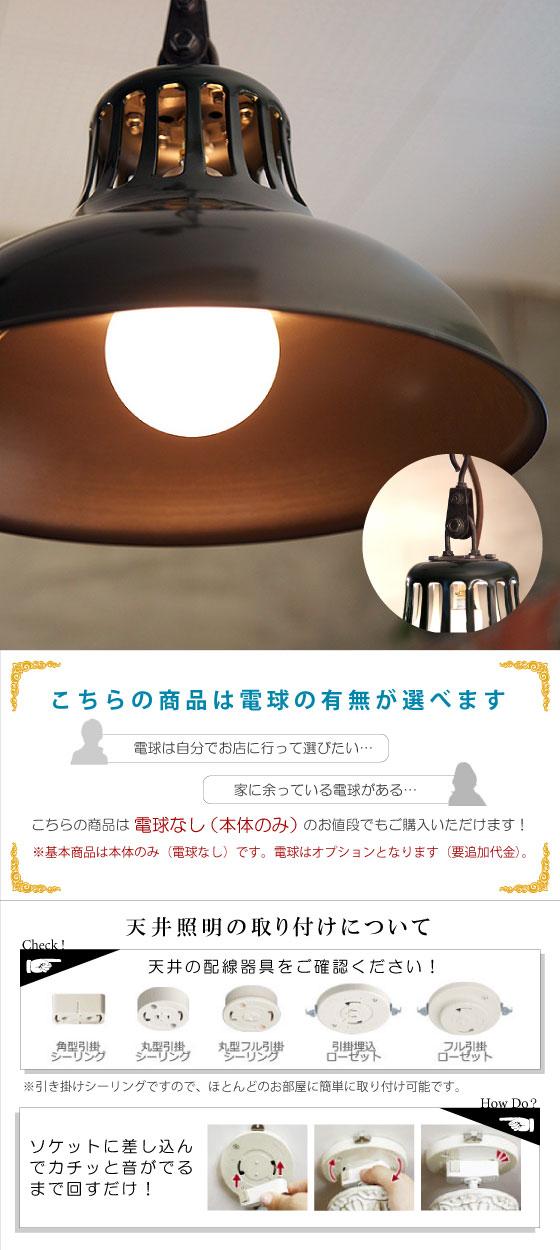 スチール製・ペンダントライト(1灯)LED電球&ECO球使用可能