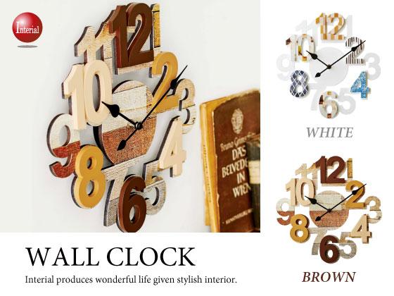 ナンバーデザイン・インテリア壁掛け時計