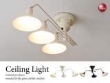アーム可動式!モダンデザイン・シーリングライト(3灯)LED電球&ECO球使用可能