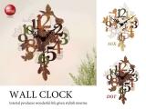 コラージュ風ガーリーデザイン・壁掛け振り子時計