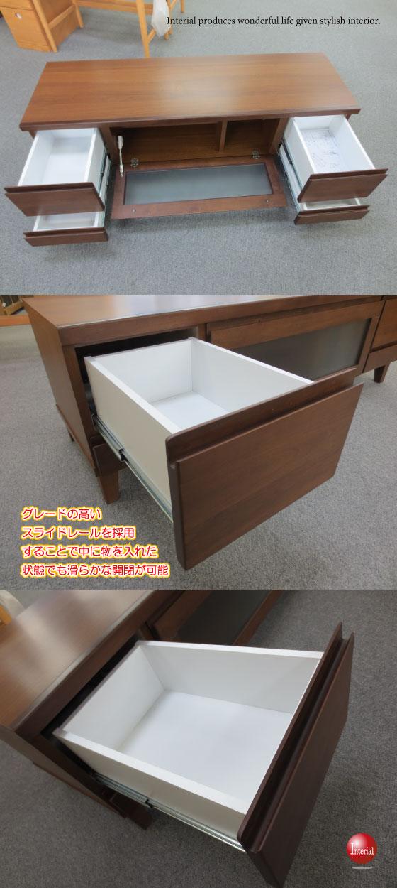 天然木アルダー製・幅135cmテレビボード(完成品)